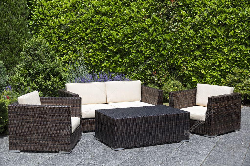 groupe lounge extérieur mobilier de jardin sur terrasse ...