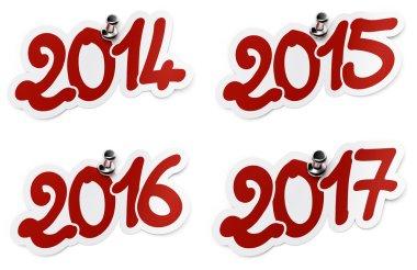 2014, 2015, 2016, 2017 stickers