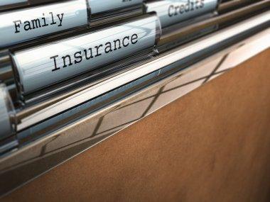 Insurance folder, family security