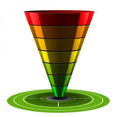 Sales or Conversion Funnel, Vector Web Analytics