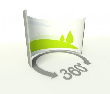 Spherical 360 panorama icon, symbol and sign