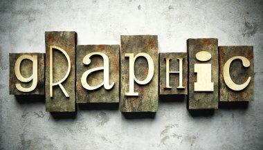 Graphic concept with vintage letterpress