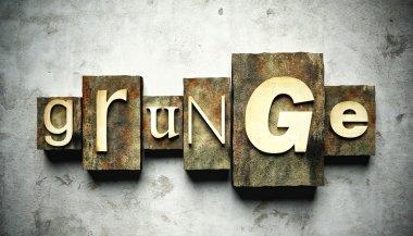 Grunge concept with vintage letterpress