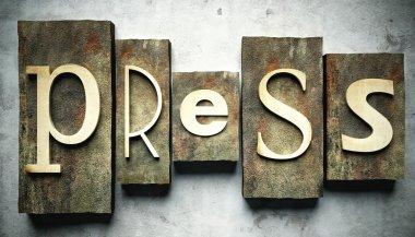 Press concept with vintage letterpress