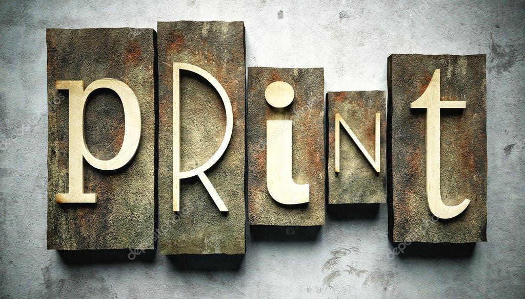Print concept with vintage letterpress