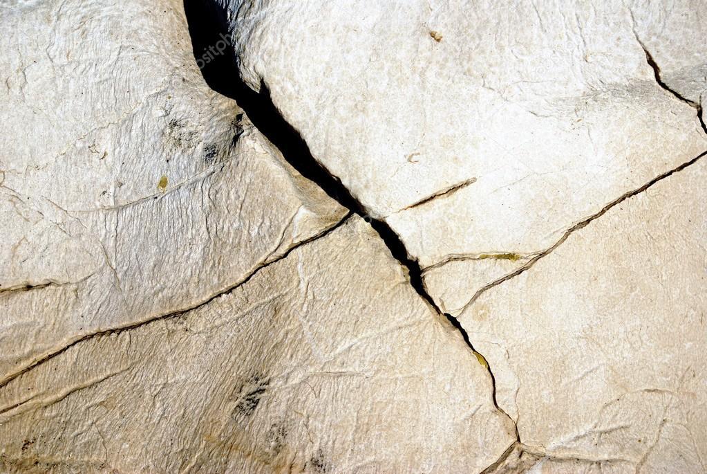 Texture of stone with cracks looks like a bone