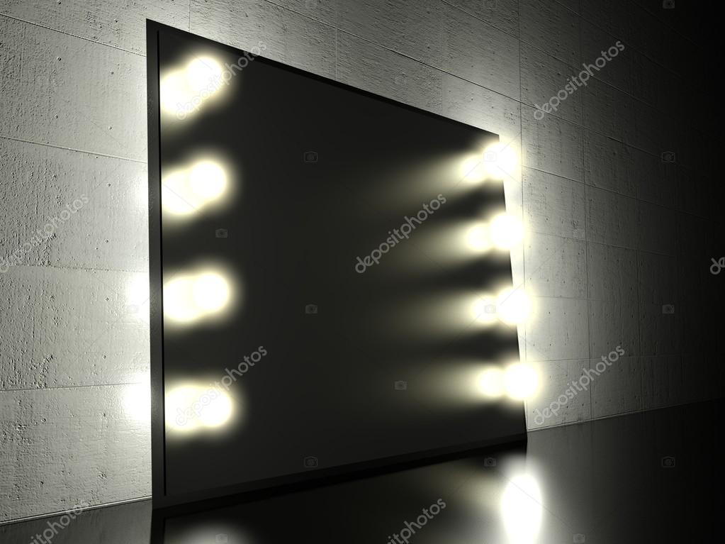 Make Up Spiegels : Make up spiegel mit glühbirnen hintergrund u stockfoto