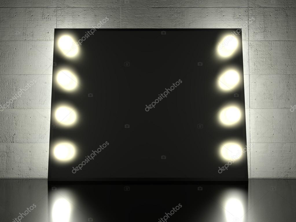 Make Up Spiegel : Make up spiegel mit glühbirnen hintergrund u stockfoto