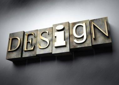 Design concept, vintage letterpress text