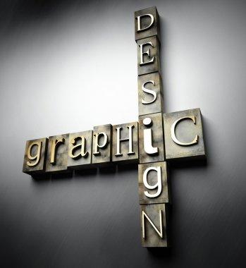 Graphic design concept, vintage letterpress text