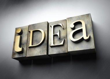 Idea concept, vintage letterpress text