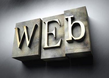 Web concept, vintage letterpress text