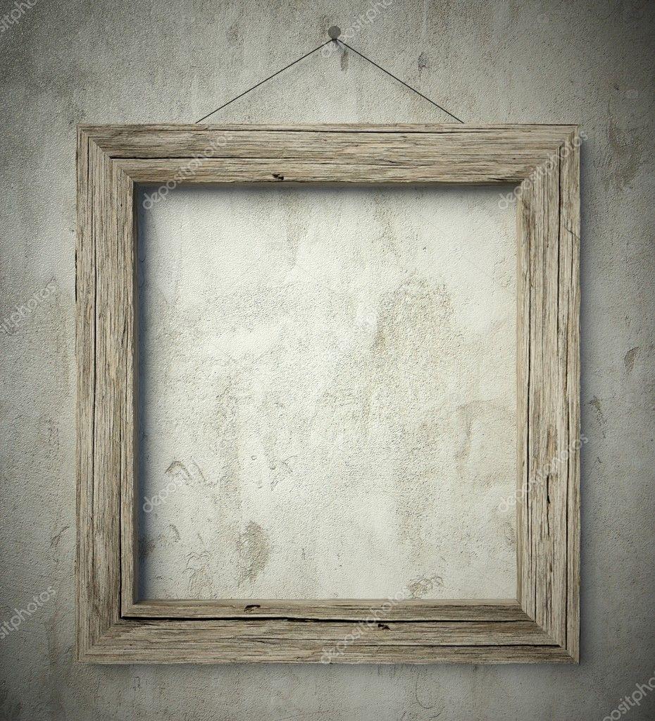 einfache alte Kreis Holzrahmen, Vintage Hintergrund — Stockfoto ...