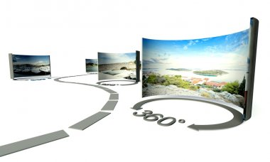 Virtual tour, 360 degrees panoramas