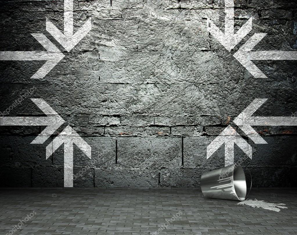 Graffiti wall black - Graffiti Wall With Frame Street Background Stock Photo 18649779