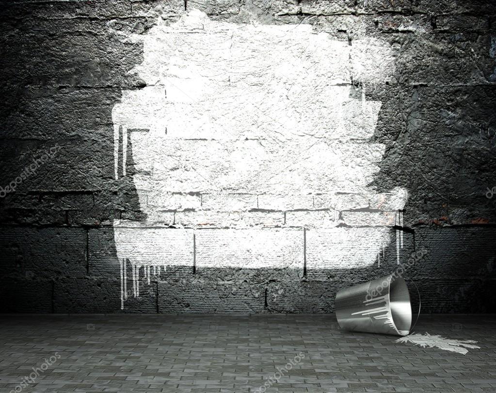 graffiti wand mit rahmen stra e hintergrund stockfoto leszekglasner 18649797. Black Bedroom Furniture Sets. Home Design Ideas