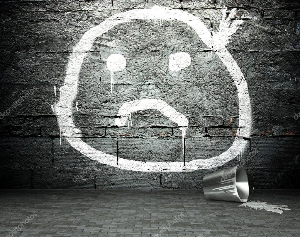 Graffiti wall with sad face street background stock photo graffiti wall with sad face street background stock photo voltagebd Image collections
