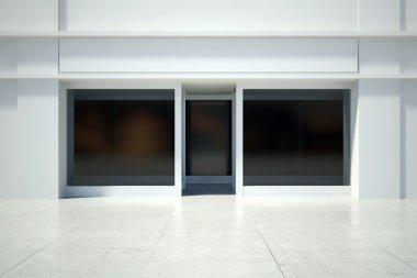 Shopfront window in modern building