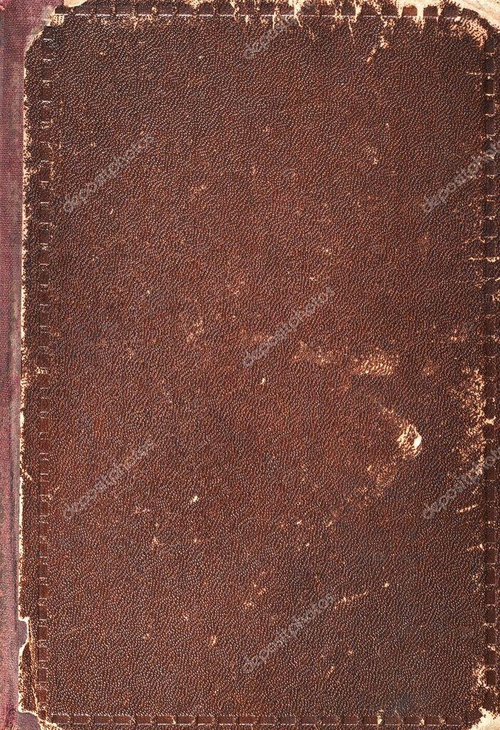 Vieux Texture De Couverture De Livre Cuir Marron Et Papier