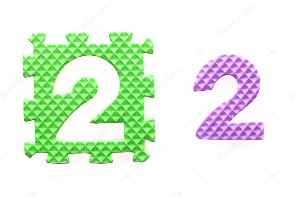 farbige Rätsel mit Nummer 2 für Kinder — Stockfoto © leszekglasner ...