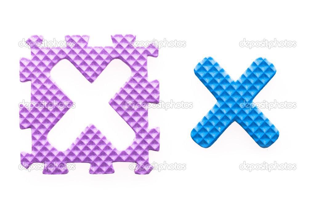 cartas de colores x alfabeto para niños — Fotos de Stock ...
