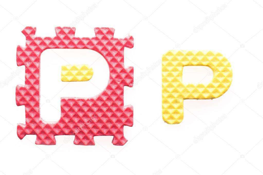 alfabeto p cartas de colores para niños — Fotos de Stock ...