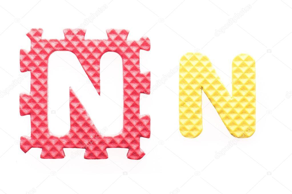 alfabeto n cartas de colores para niños — Foto de stock ...