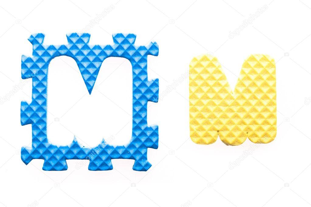 alfabeto m cartas de colores para niños — Fotos de Stock ...