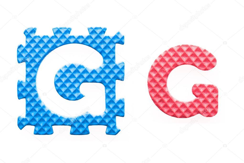alfabeto g cartas de colores para niños — Fotos de Stock ...
