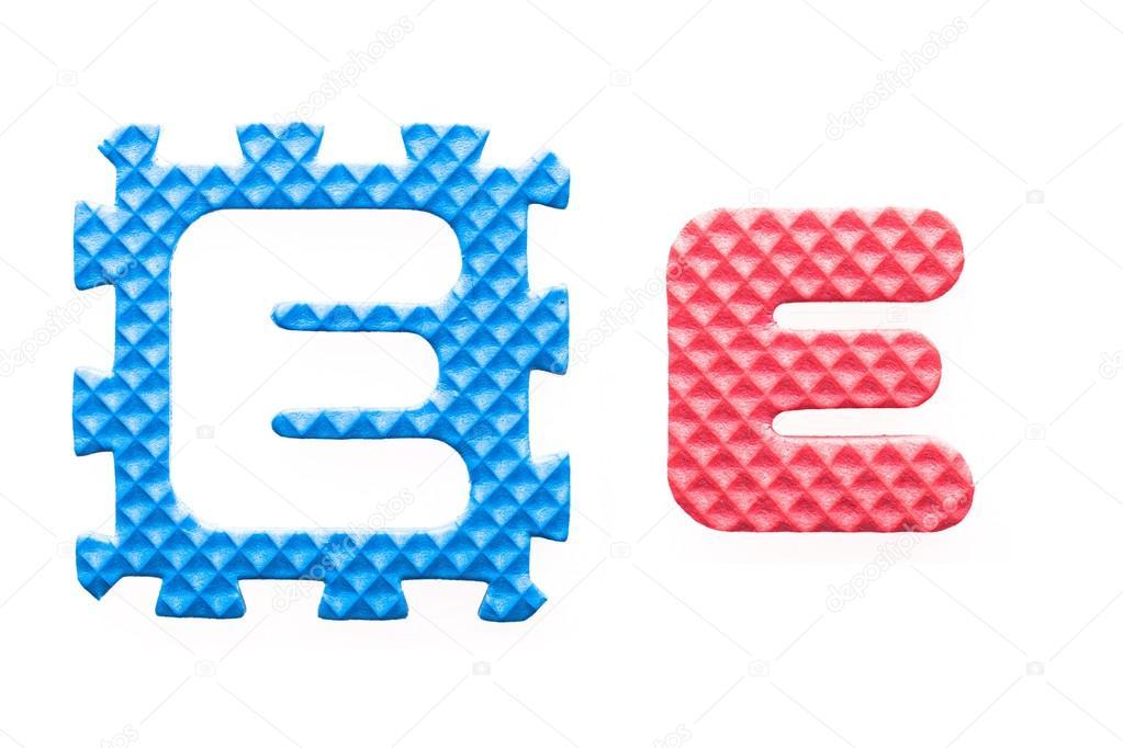 farbige Buchstaben e Alphabet für Kinder — Stockfoto © leszekglasner ...