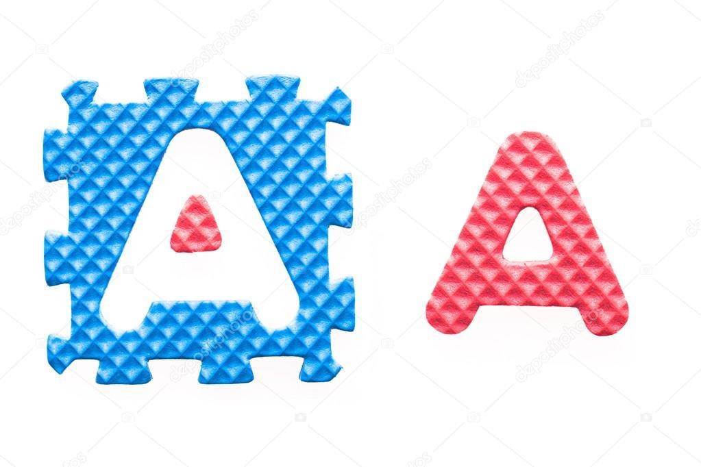 cartas de colores un alfabeto para niños — Foto de stock ...