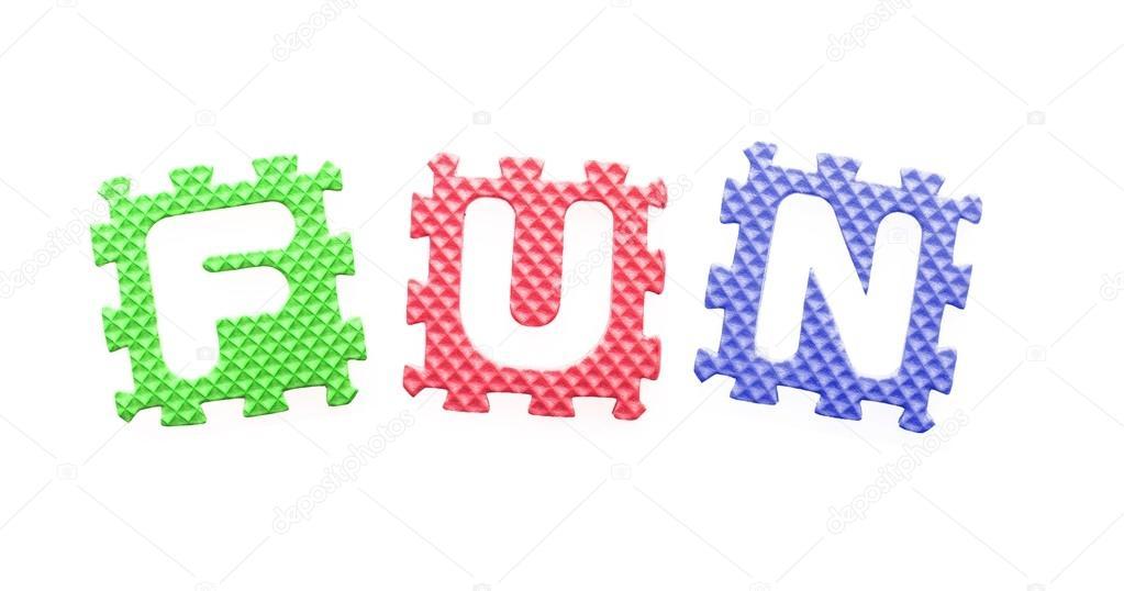 farbige Buchstaben, Spaß für Kinder — Stockfoto © leszekglasner ...