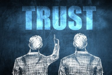 Two successful businessman showing trust, business concept