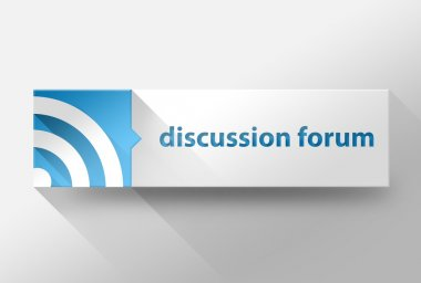 3d Discussion forum flat design, illustration