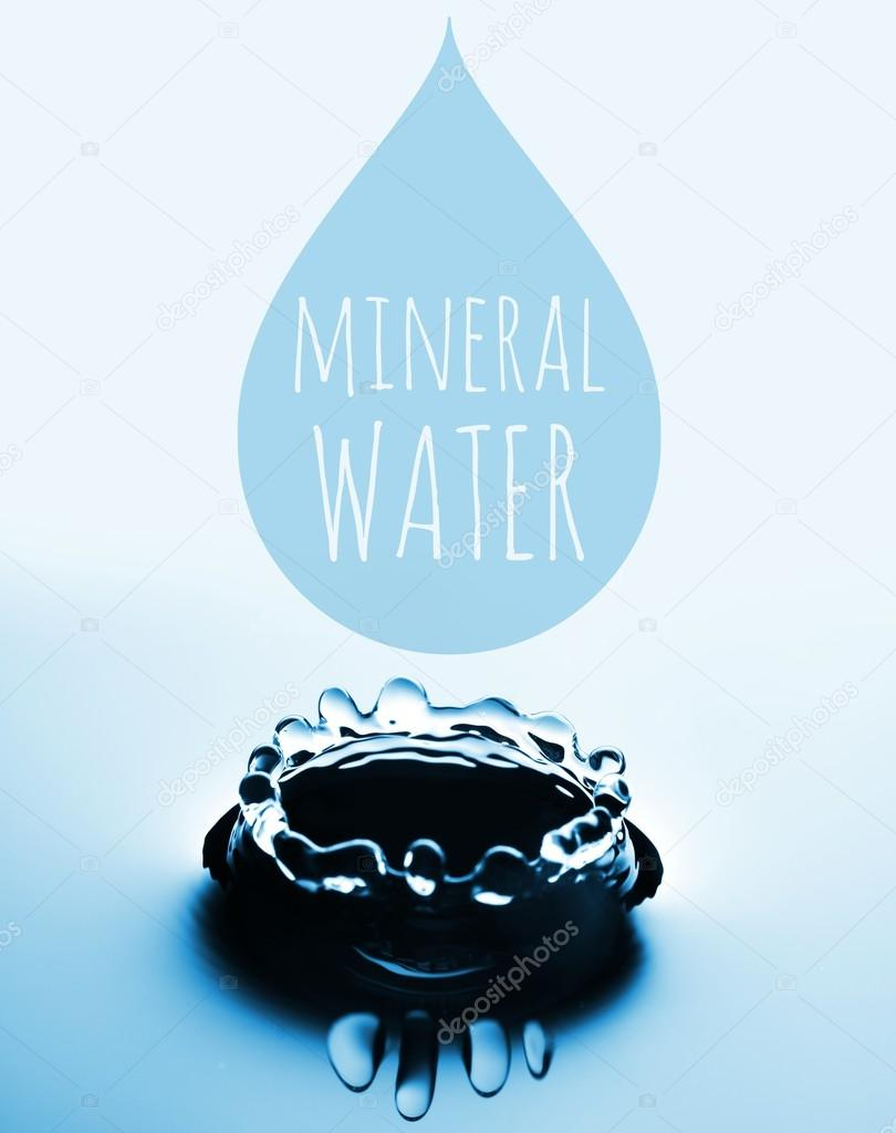 Mineral water concept with drop and splash
