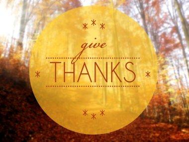 Give thanks Autumn conceptual creative illustration