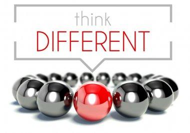 Think different, business unique concept