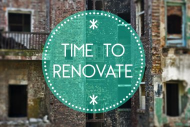 Time to renovate your life new beginning