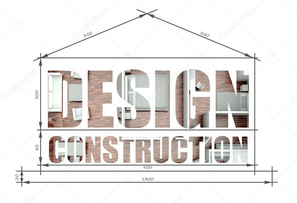Design construction in modern house blueprint foto de stock construccin de diseo ilustracin arquitectnica en planos de casa moderna foto de leszekglasner malvernweather Images