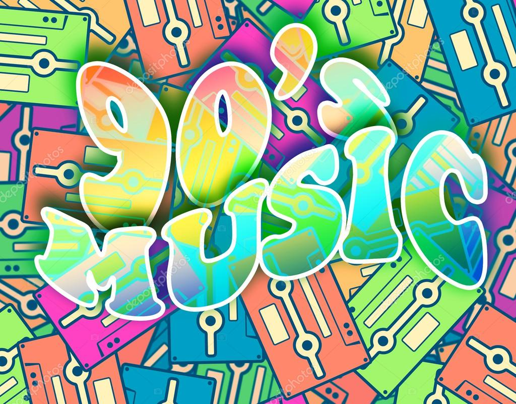 90s poster design - 90s Music Retro Concept Vintage Poster Design Stock Photo 40798473