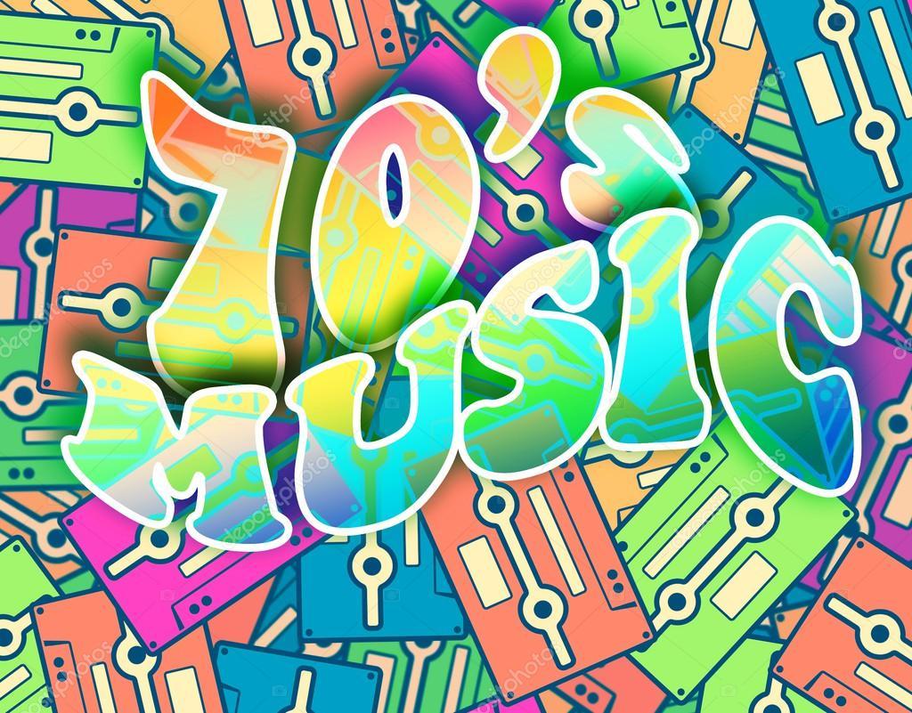 70s poster design - 70s Music Retro Concept Vintage Poster Design Stock Photo 40954937