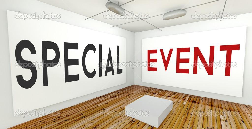 evento especial marco pared interior Galería — Foto de stock ...