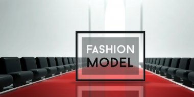 Red carpet runway Fashion model