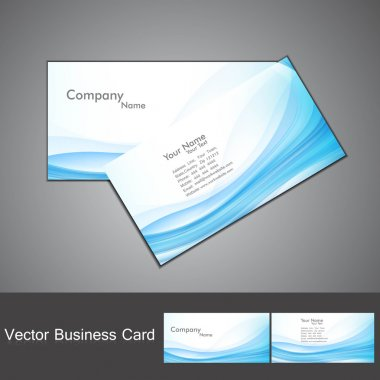 Abstract blue colorful fantastic wave business card set vector