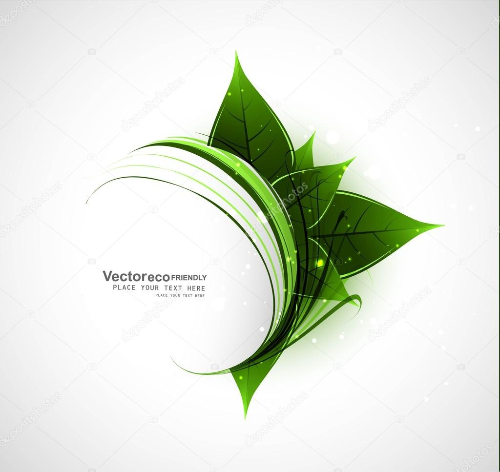 Abstract Vector Natural eco green lives swirl wave