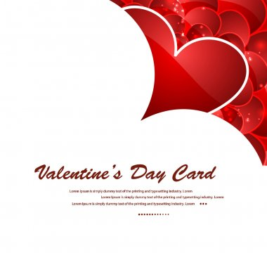 Valentines day red hearts vector illustration clip art vector