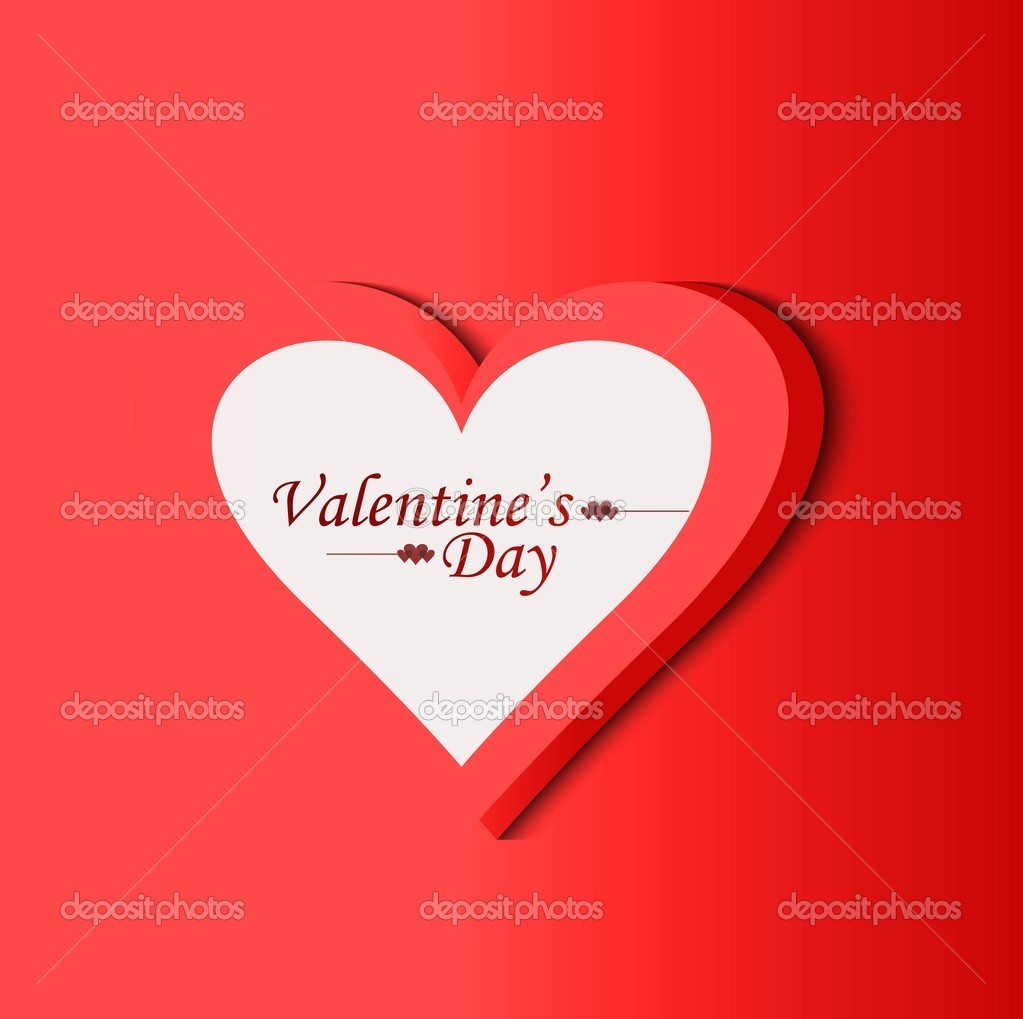 Valentinstag Rot Single Heart Vector Design Stockvektor C Bharat28
