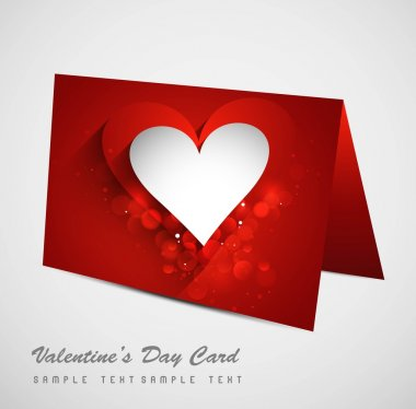 Valentine's Day colorful heart marriage card set background illu