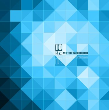 Abstract blue colorful mosaic business background texture illust