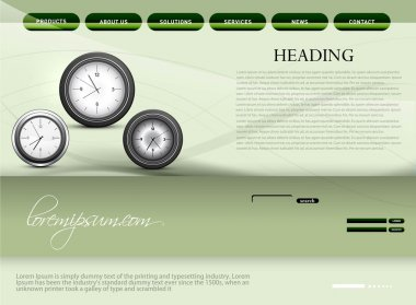 Website template presentation watch colorful design vector